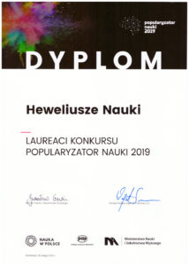 Popularyzator Nauki 2019 Heweliusze Nauki